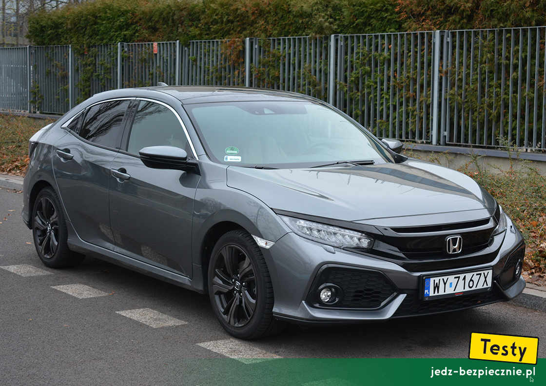 Testy - Honda Civic X hatchback - przód auta